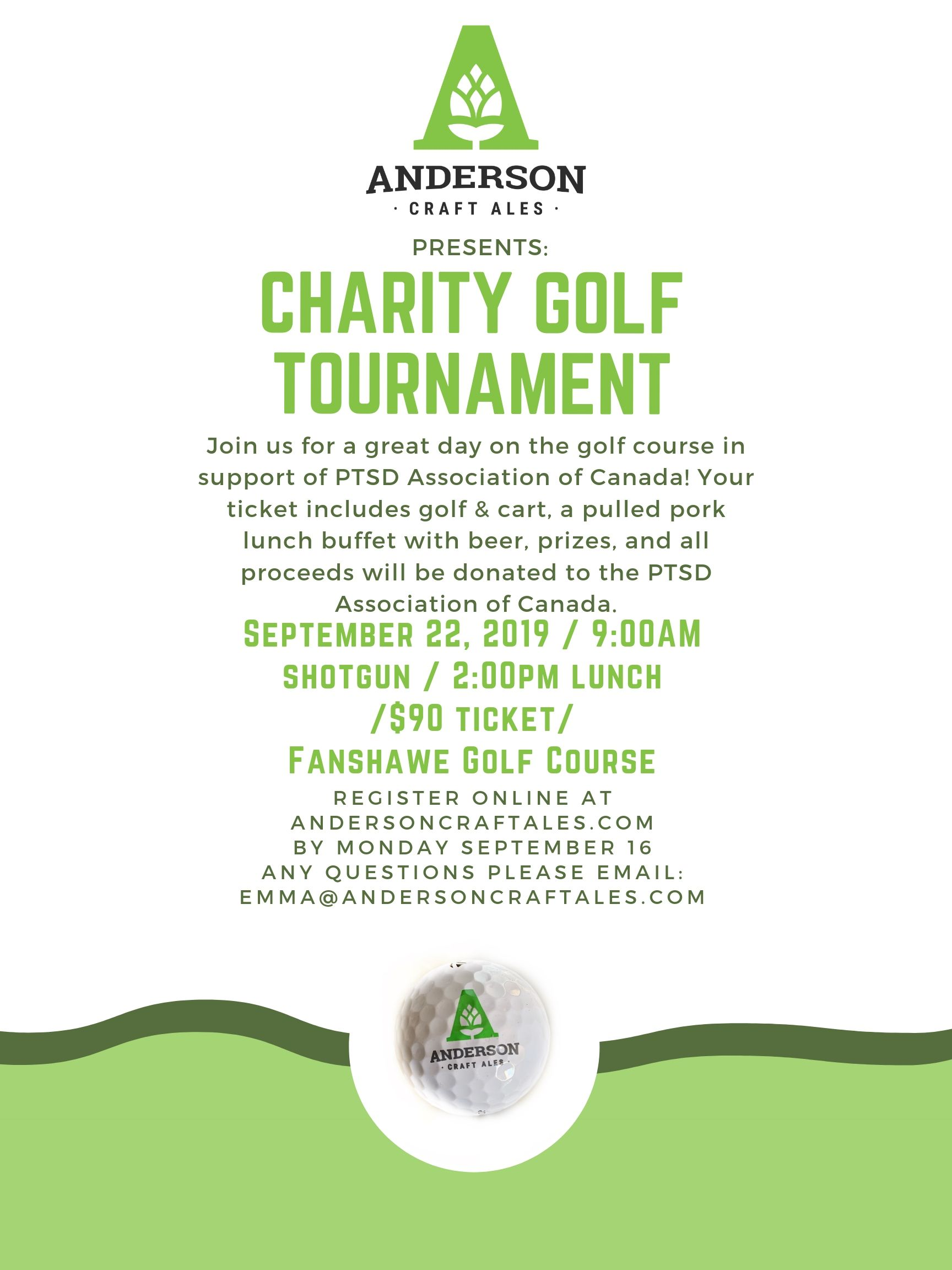 Anderson Craft Ales Charity Golf Tournament