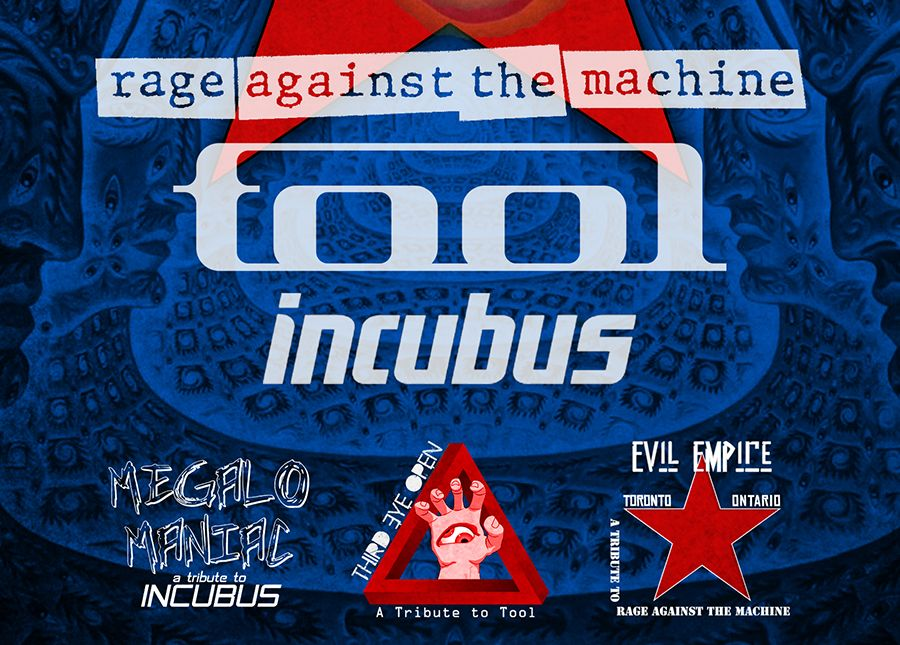 Tributes to Rage Against the Machine + Tool + Incubus