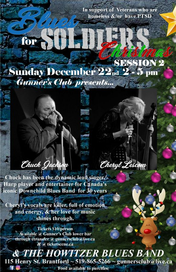 Blues for Soldiers Christmas w. Chuck Jackson & Cheryl Lescom
