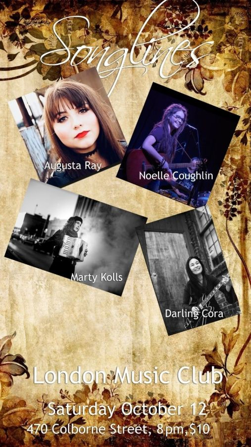 Songlines with Augusta Ray, Noelle Coughlin, Marty Kolls, Darling Cora @ LMC!!!