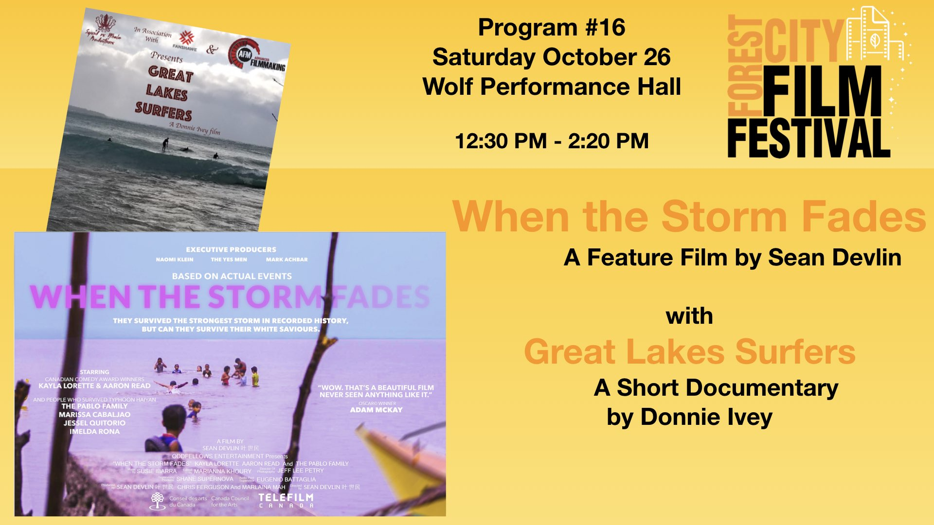 FCFF 2019 - Saturday Early Afternoon at Wolf Program #16 - When the Storm Fades & Great Lakes Surfers