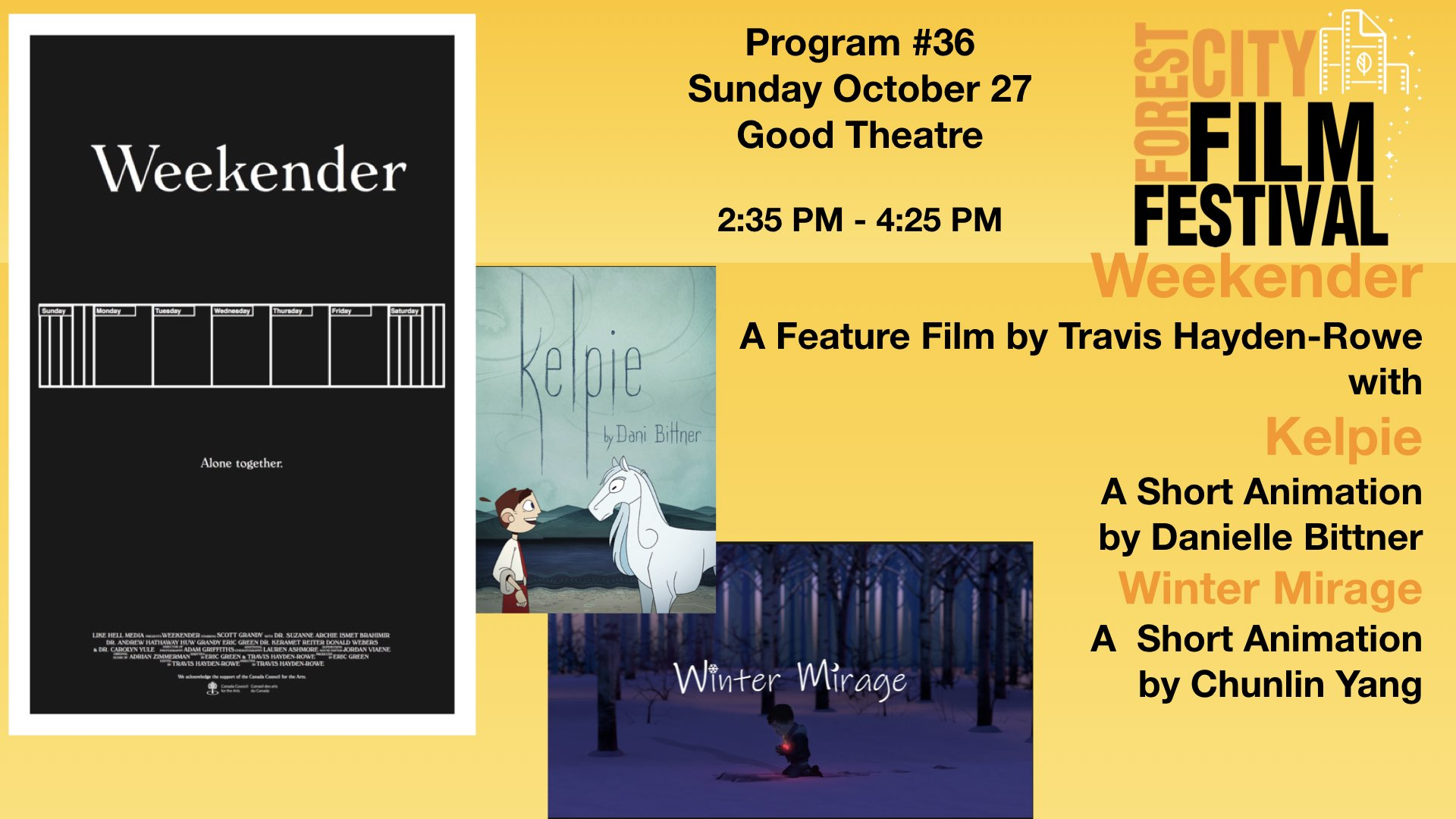 FCFF 2019 - Sunday Afternoon at Good Foundation Theatre #36 - Weekender with Kelpie and Winter Mirage