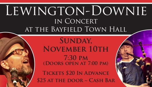 Lewington-Downie at The Bayfield Town Hall
