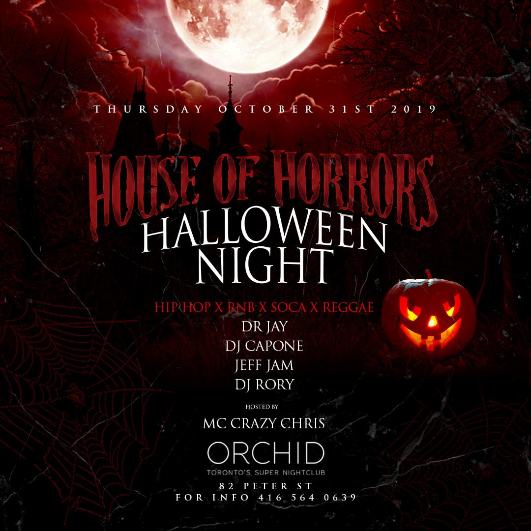 HOUSE OF HORRORS HALLOWEEN COSTUME BASH!