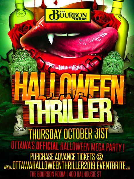 OTTAWA HALLOWEEN THRILLER 2019 @ THE BOURBON ROOM | OTTAWA'S OFFICIAL HALLOWEEN MEGA PARTY!