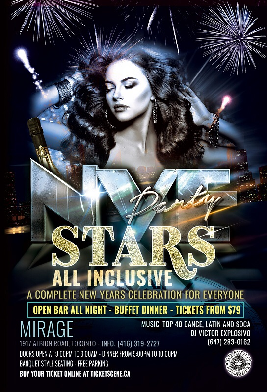 Stars New years Eve, All Inclusive