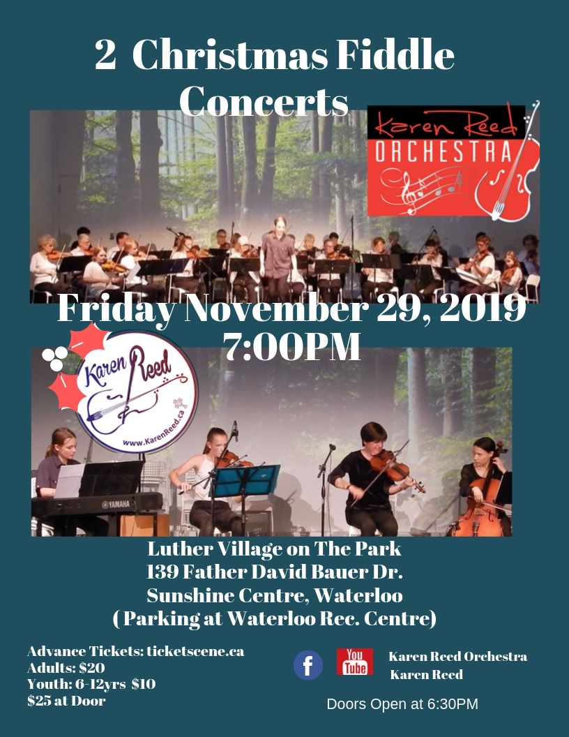 2 Christmas Fiddle Concerts-1 Evening