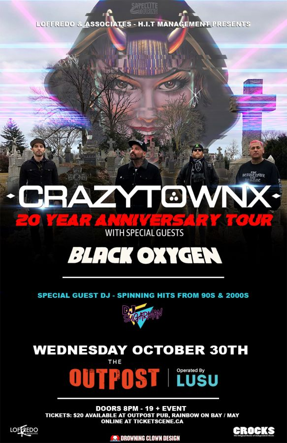 Crazy Town LIVE In Concert - October 30th at The Outpost