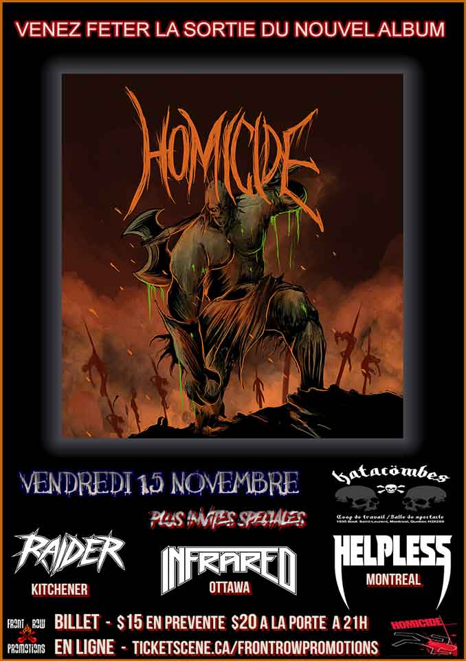 Homicide Album Release Party Montreal