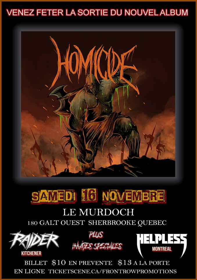 Homicide Album Release Party Sherbrooke