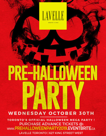 PRE HALLOWEEN PARTY @ LAVELLE NIGHTCLUB | WEDNESDAY OCT 30TH