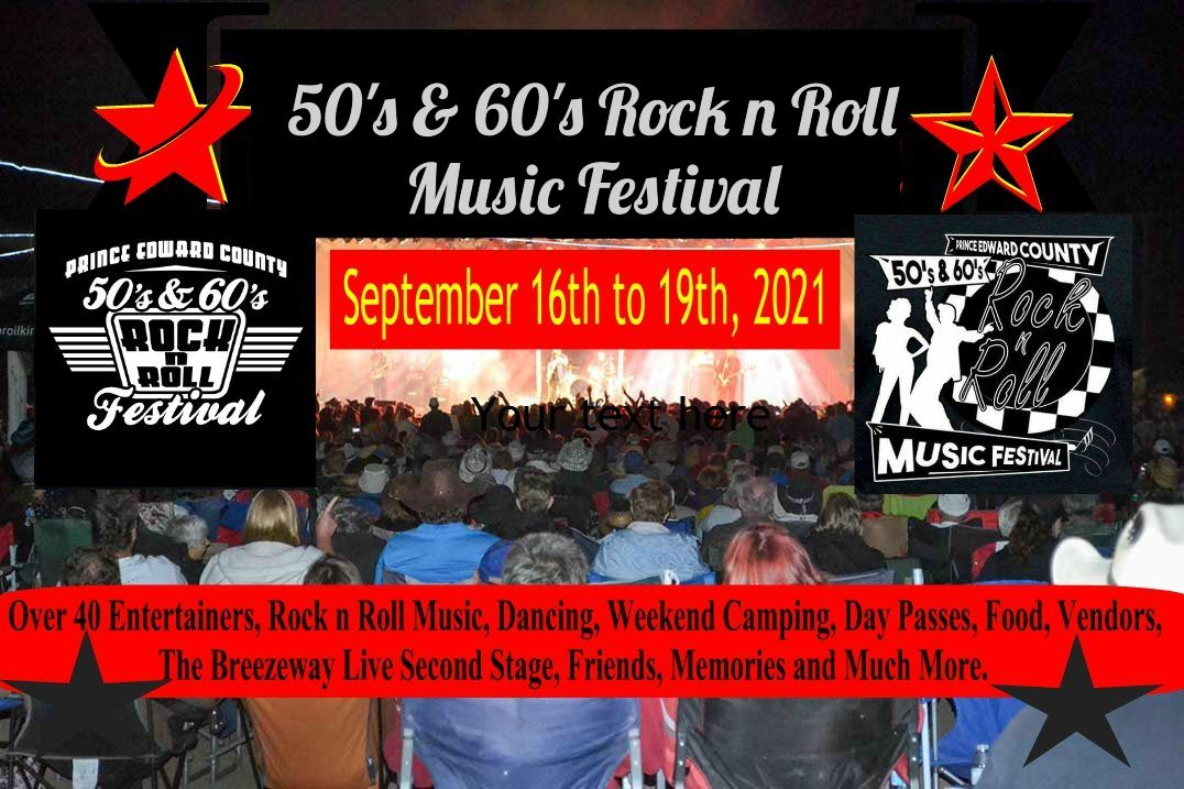 2020 Prince Edward County 50's & 60's Rock n Roll Music Festival