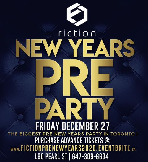 PRE NEW YEARS PARTY @ FICTION NIGHTCLUB | FRIDAY DEC 27TH