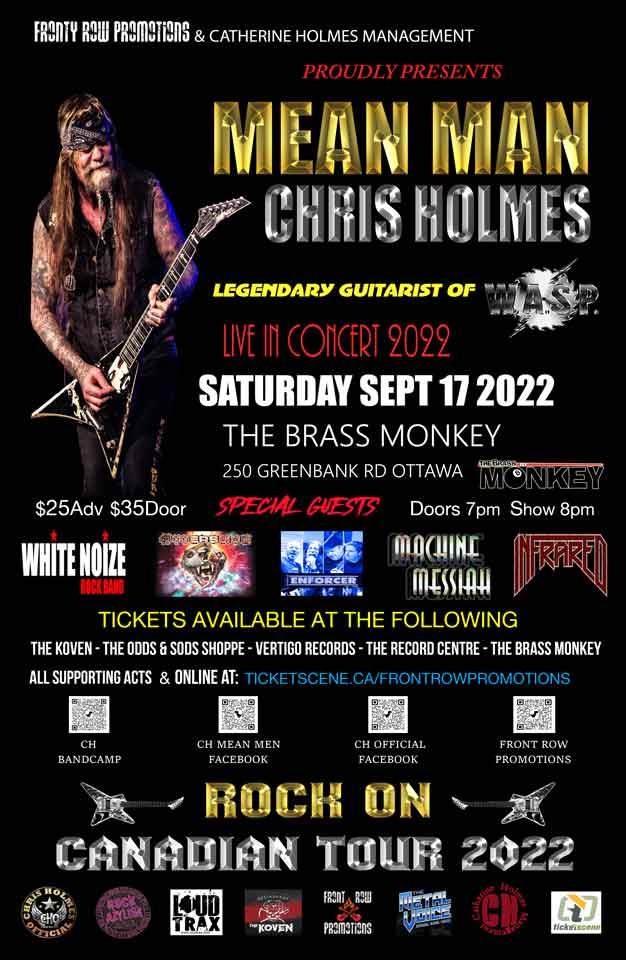 Chris Holmes & The Mean Men (Legendary Guitarist Of W.A.S.P.)