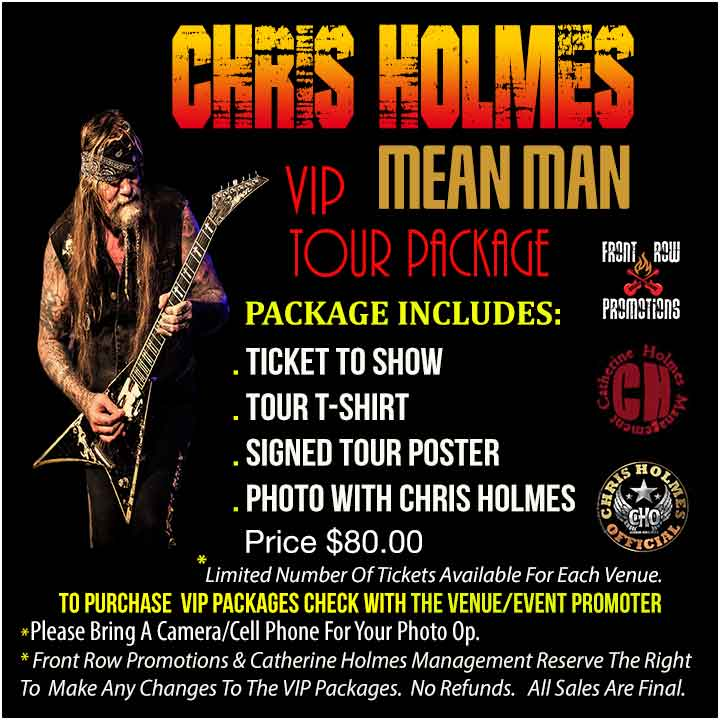 Chris Holmes VIP Tickets Toronto