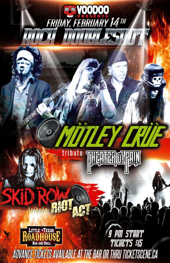 Motley Crue & Skid Row tribute ROCK Double Shot!