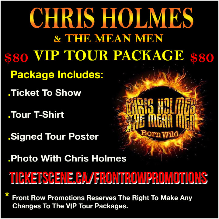 Chris Holmes VIP Tickets Thunder Bay ON