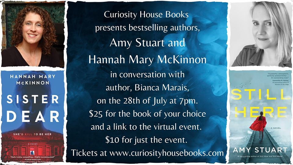 Amy Stuart and Hannah Mary McKinnon in conversation with Bianca Marais