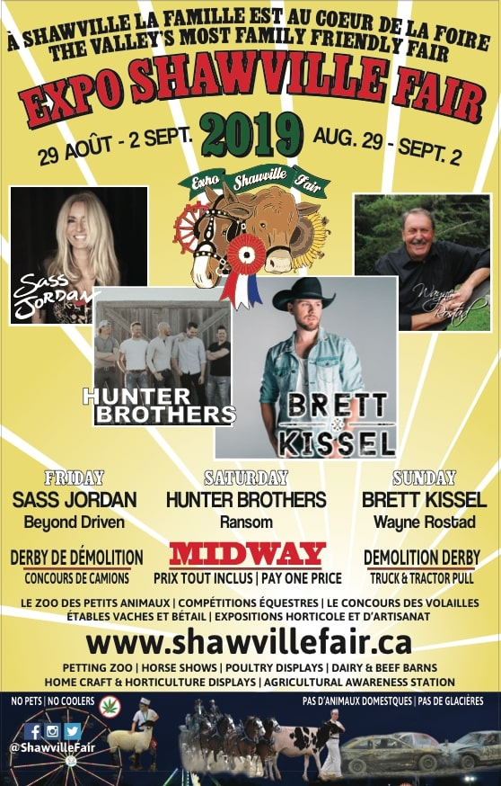 Shawville Fair (Weekend Pass) - Brett Kissel, Hunter Brothers, Sass Jordan